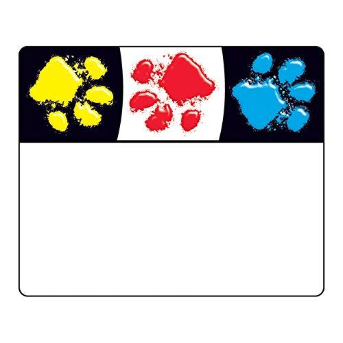 Trend Enterprises, Inc. T-68081BN Paw Prints Terrific Labels, 36 per Pack, 6 Packs by TREND Enterprises