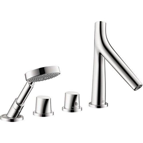 Starck 2 Toilet Set (AXOR Axor 12425001 Starck Organic 4 Hole Roman Tub Set Chrome)