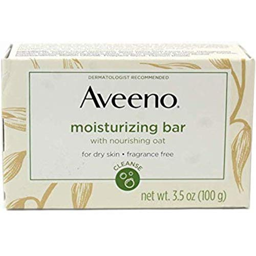 AVEENO Naturals Moisturizing Bar for Dry Skin 3.50 oz (Pack of 5)