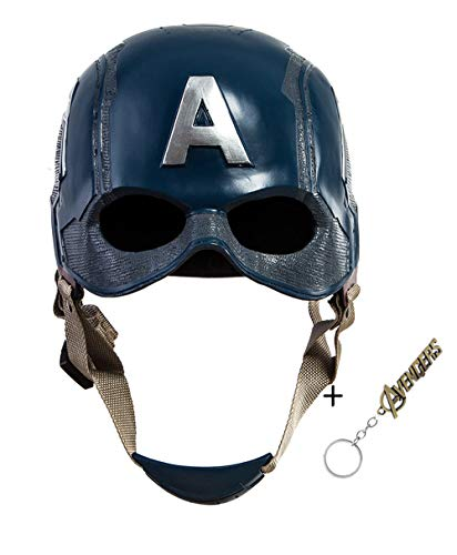 Captain America Replica Costume (Traveller Captain America 3 Civil War Helmet Movie Cosplay Props for Adult, Navy Blue, one)