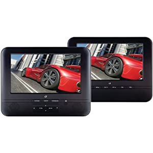 GPX PD7711B Portable 7-Inch Twin Screen DVD Player