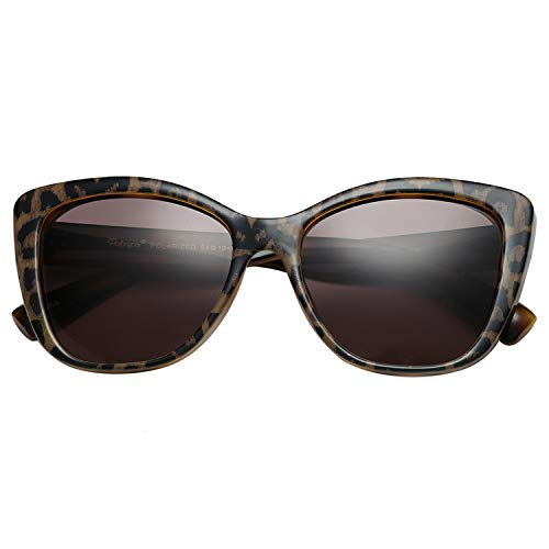 Polarspex Polarized Women's Vintage Square Jackie O Cat Eye Fashion Sunglasses