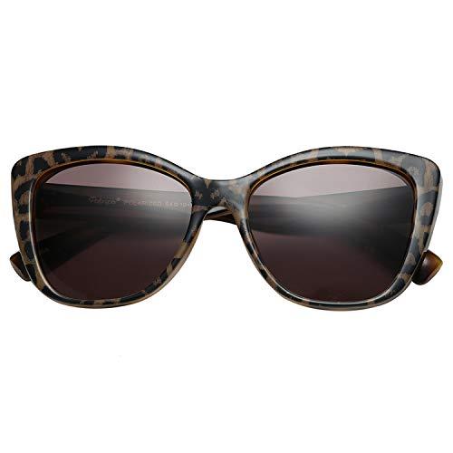 Polarspex Polarized Women's Oversized Square Jackie O Cat Eye Fashion ()