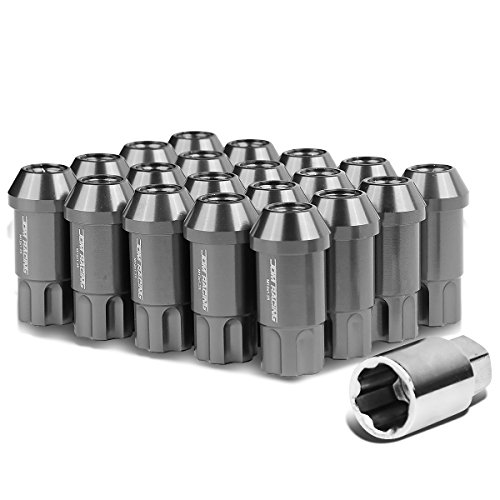 M12 x 1.5 Open End Design 20-Piece Aluminum Alloy Wheel Lug Nuts +1 X Deep Drive Extension (Gun Metal) by Auto Dynasty