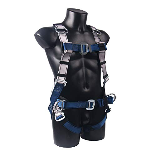 JINGYAT Full Body Safety Harness Fall Protection with 5 D-Ring,Universal Personal Protective Equipment (130-310 pound),Construction Industrial Tower Roofing Tool