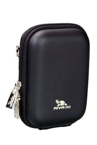 Digital Exilim Camera Case Pouch - RivaCase Riva 7023 PU Digital Camera Case Hard Material,Black