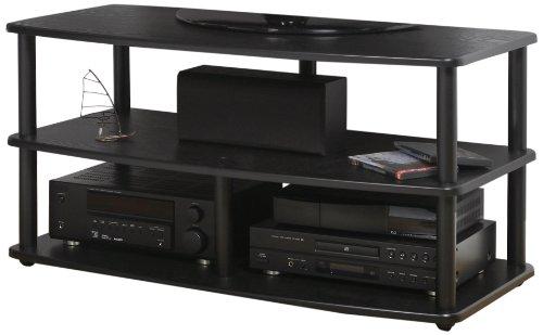 PLATEAU SE-V3 42 BB Wood and Metal TV Stand, 42-Inch, Black Oak - Plateau Tv Metal Stand