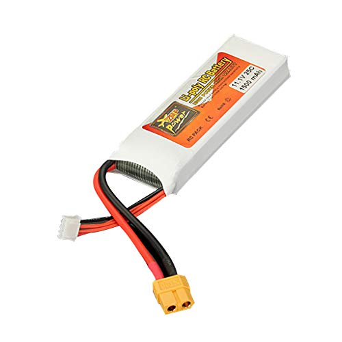 Hot  ZOP Power Rechargeable 11.1V 1500Mah 25C Li-Poly RC Battery with XT60 Plug for RC Car Drone (♥ A)