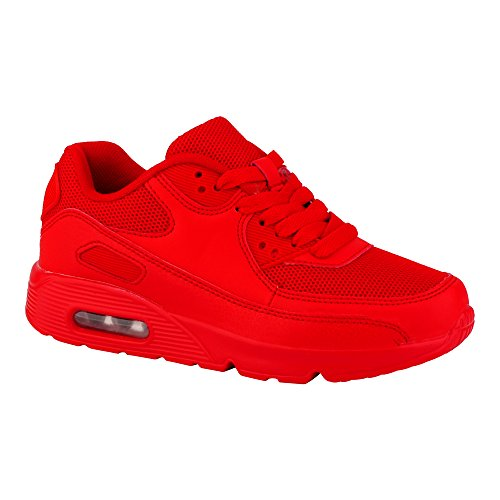Damen Sneaker Sportschuhe Lauf Freizeit Fitness Low Schuhe Rot EU 37