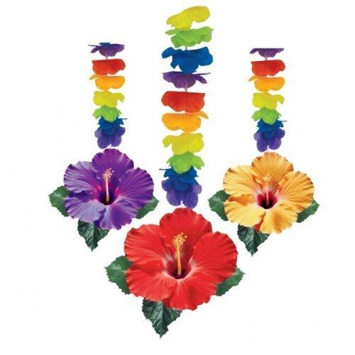 Amscan International Hanging Swirl Decoration Flower Hawaiian 679979