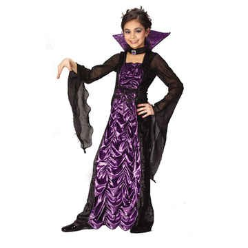 Countess Of Darkness Child Medium Costume (Dracula Halloween Costume)
