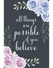 All Things Are Possible If You Believe: Password Book with Alphabetical Tabs, A-Z Username & Password Logbook (Discreet Cover Design)