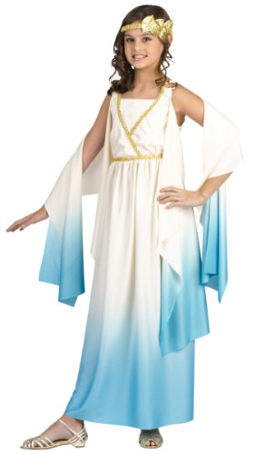 Roman Female Costumes - Fun World Greek Goddess Child Costume Cream Large (12-14)