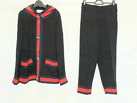 fc432a3a5ce7 Amazon | (グッチ)GUCCI レディースパンツスーツ レディース 黒×ネイビー ...
