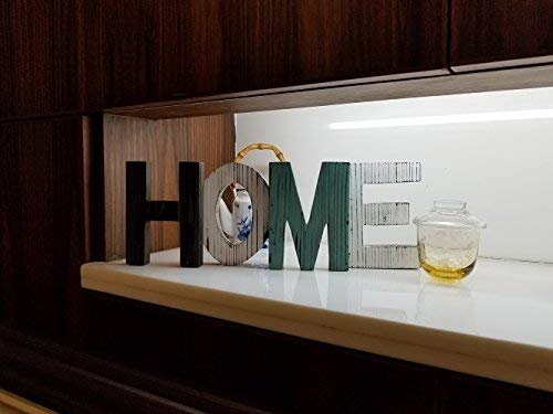 DGQ HOME Letters Distressed Wood Decorative Sign Standing Cutout Word Table Decor Home Ornament