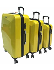 "ViscoLogic® 3 Piece Lifestyle Spinner Luggage Set LS101-3, 28"" 24""& 20"" (YELLOW)"
