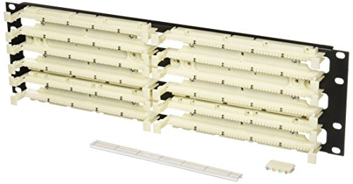 Leviton 41DBR-3F4 GigaMax 5E 110-Style Wiring Block, Rack Mount Kit, Cat 5E with C4S, 300-Pair ()