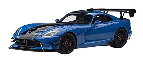2017 Dodge Viper ACR Competition Blue with Black Stripes 1/18 Model Car by Autoart 71734