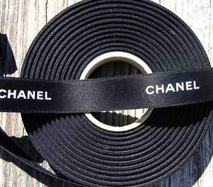 100% Authentic Chanel Black White Lettering Ribbon Florist, Flowers, Arts & Crafts Gift Wrapping