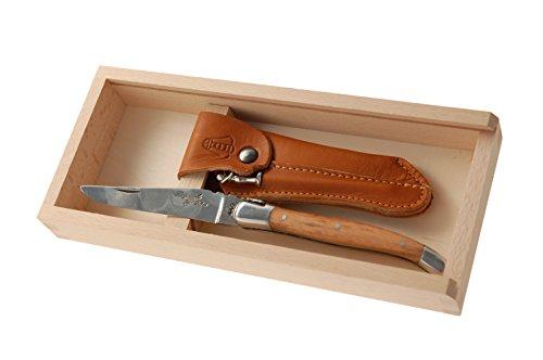 Jean Dubost Olive Wood Handle Pocket Knife by Jean Dubost