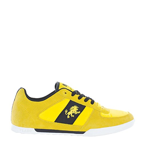 Vlado Calzature Mens Core In Pelle Scamosciata E Nylon Low Top Low Top Sneaker Giallo