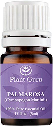 Palmarosa Essential Oil. 5 ml. 100% Pure, Undiluted, Therapeutic Grade. Sample Size