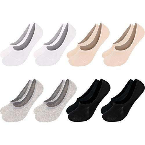 Mens Basic 8 Pack Casual Fashion No Show Liner Fake Socks Non Slip Assorted