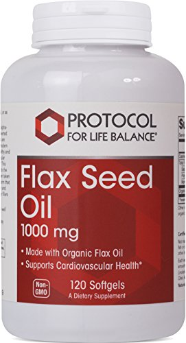 Protocol For Life Balance – Flax Seed Oil 1000 mg – Made with Organic Flax Oil to Support Cardiovascular Heart Health, Appetite Suppressant, Constipation Relief, & Improve Gut Health – 120 Softgels Review