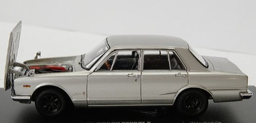 Gtr Type - Kyosho original 1/43 Nissan Skyline 2000 GT-R 1969 First half type Wide wheel (PGC10 / 4 door / with engine) Silver