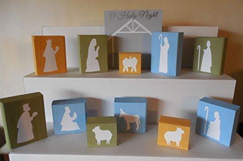 Wooden Stable Blocks (Wooden Nativity Blocks)