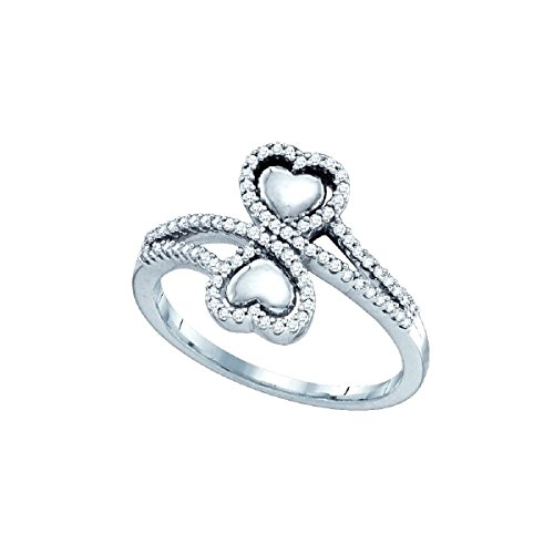 0.25 Ct Double Heart - 5