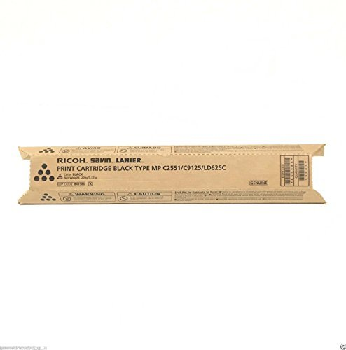 Ricoh Savin Lanier Ricoh Aficio MP-C2551 Genuine BLACK Toner Cartridge For Ricoh (Genuine Ricoh Black Toner)