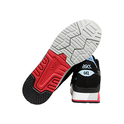 ASICS Gel Lyte III Retro Running Shoe, Black/Black/Future Blue, 10 M US