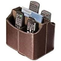 Remote Control Organizer Storage Holder Caddy Leather Tv Couch Arm Chair Sofa