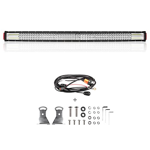 Curved-LED-Light-Bar-Rigidhorse-52-450W-Dual-Color-Light-Bar-Combo-WhiteGreen-Lights-Beam-Driving-Lights-LED-Bar-For-Off-Road-SUV-ATV-Jeep-Truck-Boat