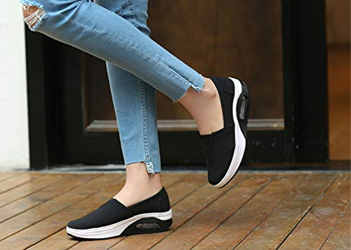 Schuhe Neue Schuhe B Faulen Exing Weiß Beleg der Schuhen Luftkissen Fallen Rot Erschütterungs Frauen Schwarzes Die auf beiläufige Segeltuch Schuhe X0qxqwnpCP