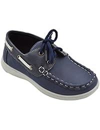4d593f1baf3 Boy s Lace up Boat Deck Shoe (Big Kid Little Kid Toddler)