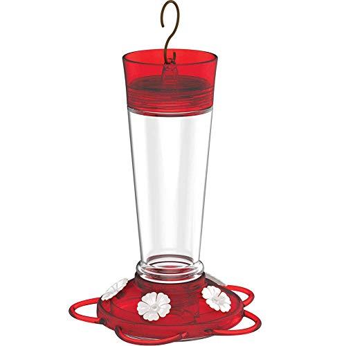 - More Birds Ruby Hummingbird Feeder, 10-Ounce Capacity, 5 Ports