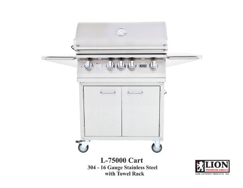 Lion 32 Inch Stainless Steel Natural Gas Grill On Cart