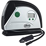 Slime 40051 Digital Tire Inflator (12-Volt), Compact and Portable Air Compressor Pump with Auto Shutoff Technology