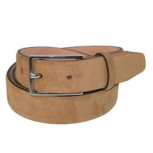 The British Belt Company Men's Stratton Italian Suede Belt, 34, Tan
