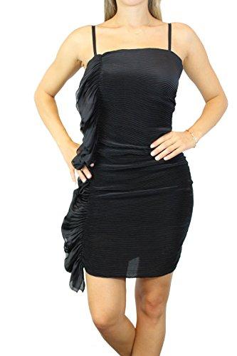 PATRIZIA PEPE Trägerloses Kleid, Schwarz, Rüschen seitlich Gr. 40 # O112
