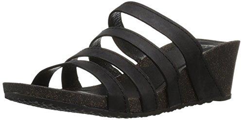 Teva Womens W Ysidro Slide Wedge Sandal Black