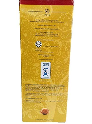 8 Boxes Organo Gold Gourmet Cafe Latte with 100% Organic Ganoderma Lucidum Extract - HOS by Organo Gold (Image #4)