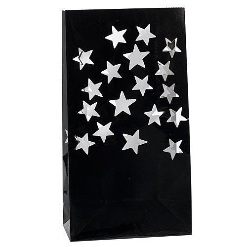 Metallic Star Luminaries Package of 12 -