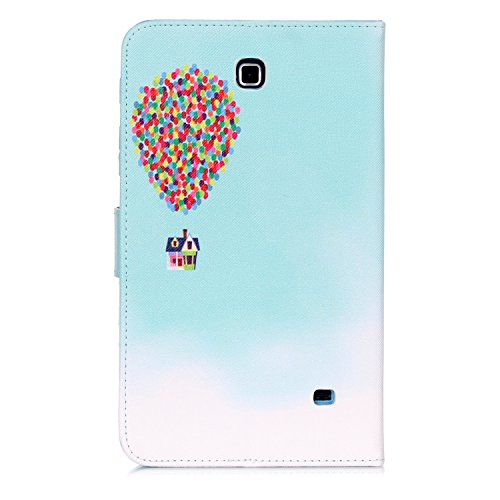 Tab 4 7.0 inch Case, Dteck(TM) Cartoon Design Flip Wallet Stand Case with Card/Money Slots Magnetic Closure Protect Cover for Samsung Galaxy Tab 4 7.0 inch T230/T231 (01 Balloon)