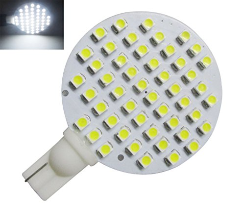 GRV T10 921 194 48-3528 SMD Wedge LED Bulb lamp Super Bright AC/DC 12V-24V Pack of 2 (Cool White) (12v Ac Tail Light)