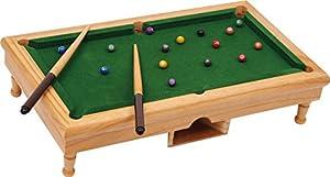 Legler Tisch-Billard Billardtisch Pool-Tisch aus Holz natur