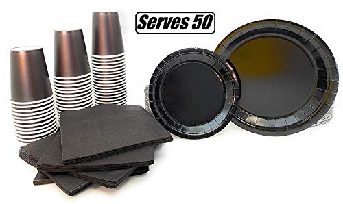 Serves 50 | Complete Party Pack | Black | 9