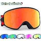 bea70f675e34 G4Free OTG Ski Snowboard Goggles Magnetic Lens Snowboarding Goggles ...